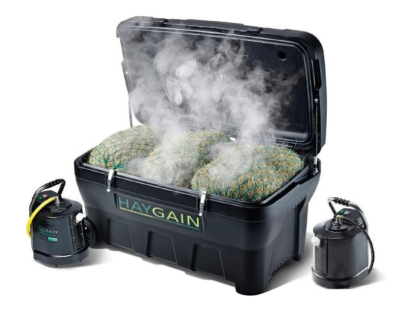 The Haygain steamer provides much cleaner hay for your horse