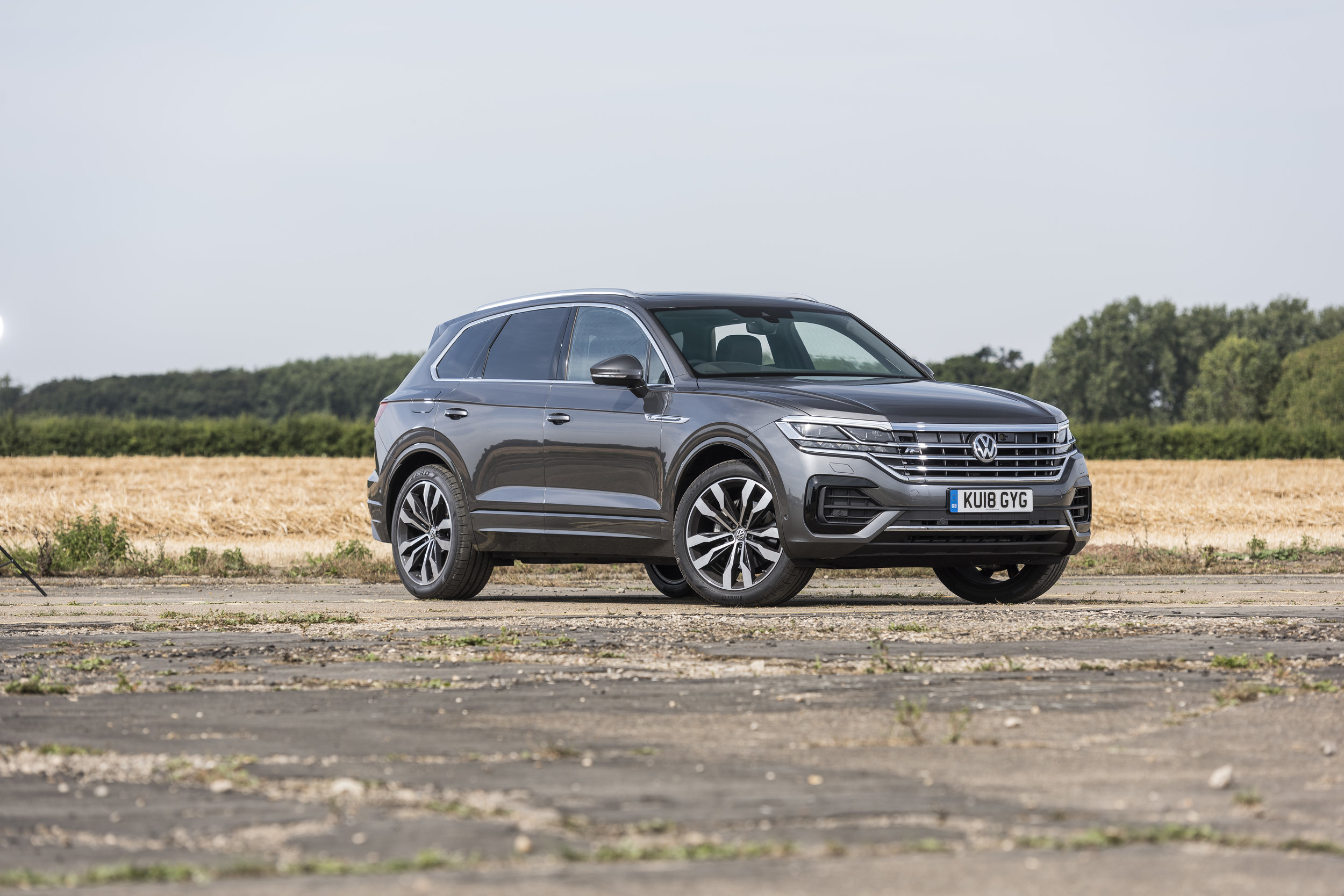 The Touareg boasts some clever kit to help you tow