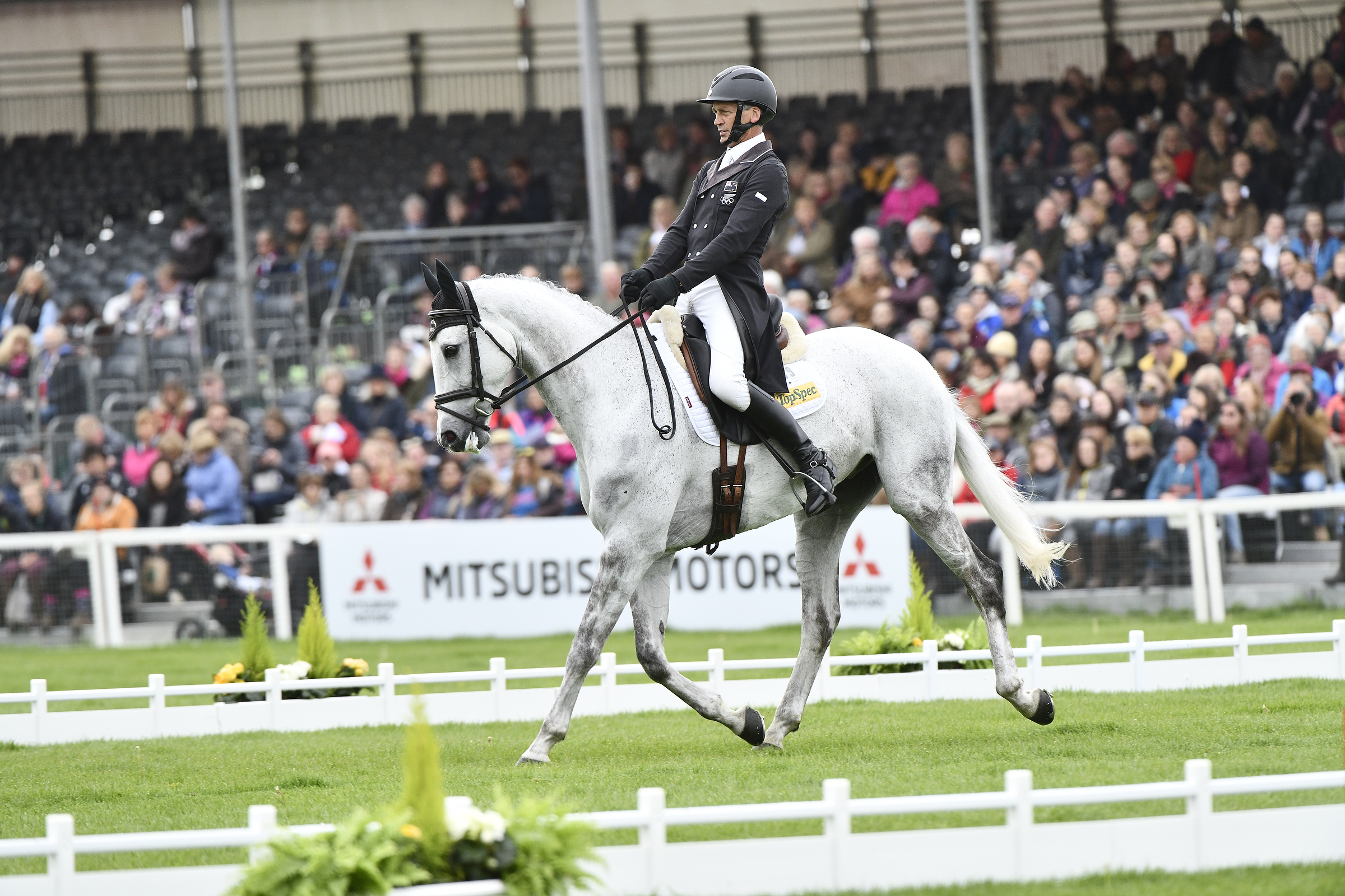 10, Andrew Nicholson - Swallow Springs is best placed of the New Zealand horses at this stage, lying 10th on 27.8pens (72.18%).