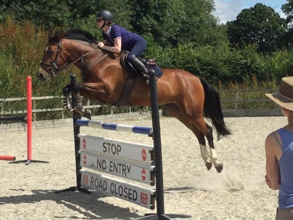 My favourite thing is jumping with my mare, she is teaching me so much.  Claire Gettinby