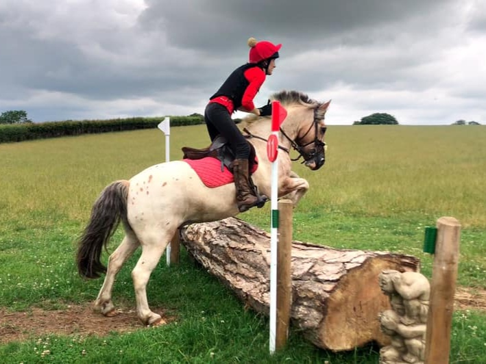 Cross-country is me and Toffee's favourite thing to do and for a 13hh pony he doesn't do a bad job.  Jess Stoughton