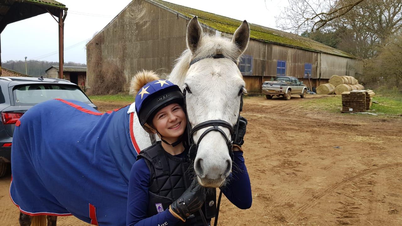 Lottie and her horse Glen