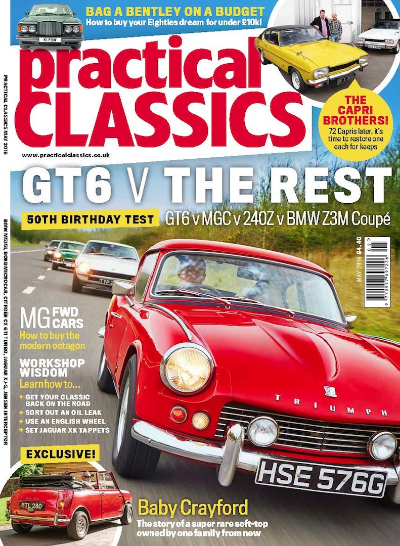 The May issue of Practical Classics magazine is packed with heroic restorations, classic car adventures and technical tips. Whether you like a shiny MGB or a barn find Fiesta - a 1950s classic or a modern classic - this month, Practical Classics features 96 stunning cars!