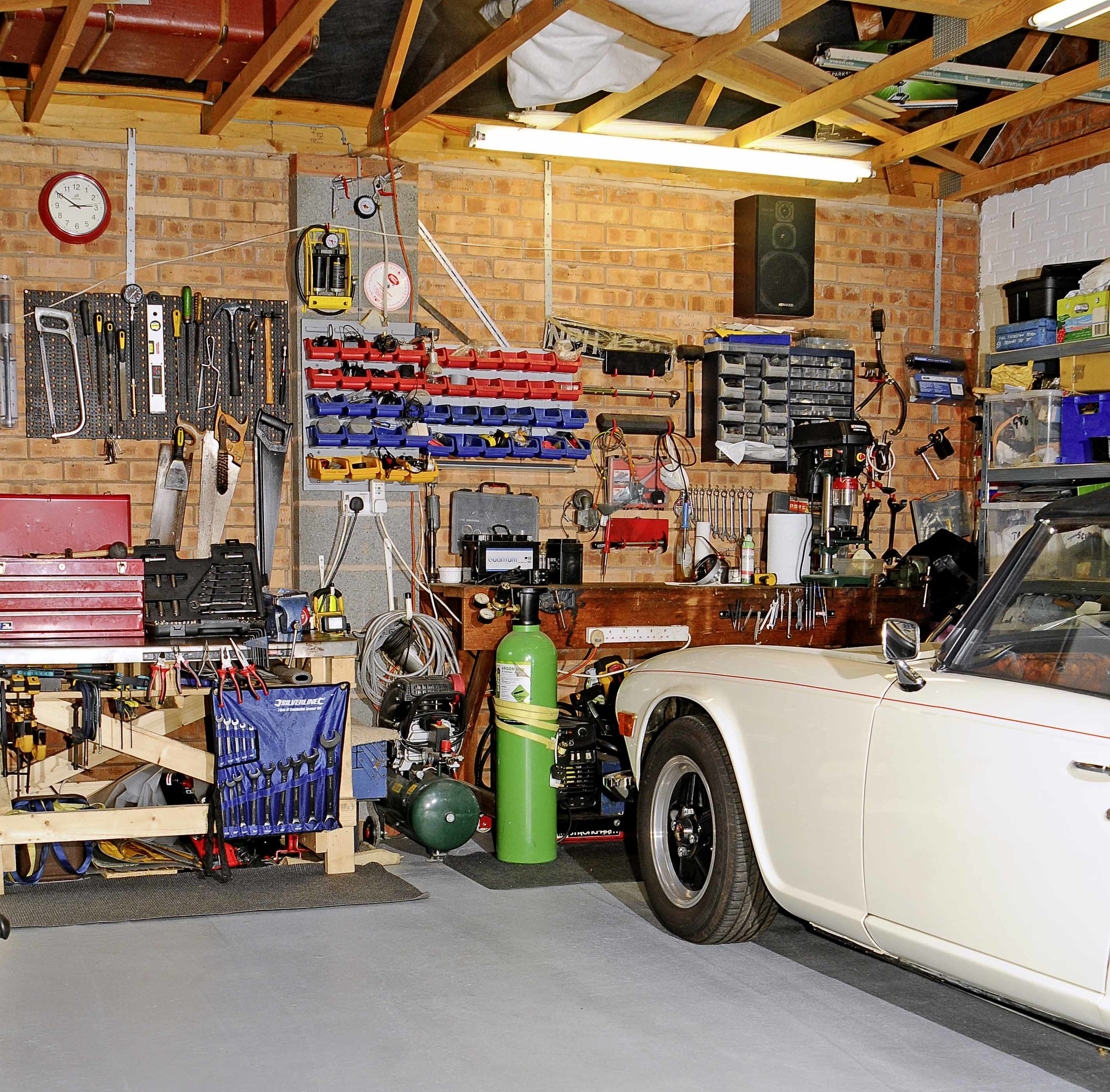 Most of us have to make do with a domestic garage as a workshop. Damp, cramped, cluttered and dusty, it's a far from ideal environment in which to carry out the jobs required to keep a classic car on the road. It doesn't have to be this way! A few hundred pounds and a couple of weekends can transform a modest garage into a luxurious micro-workshop. We show you how in the latest issue…