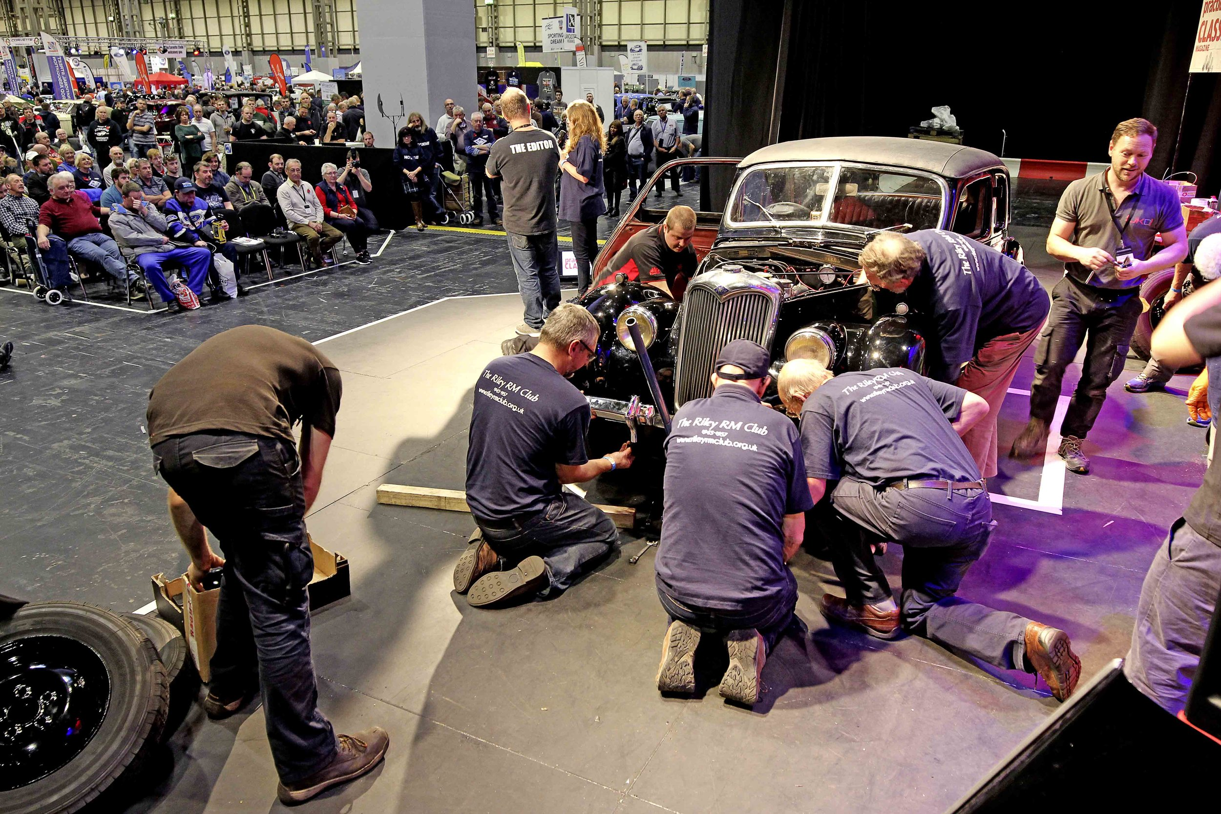 How did we do with our NEC Classic Motor Show project, when we tried to rebuild it live on stage? Full story in the current issue of Practical Classics!