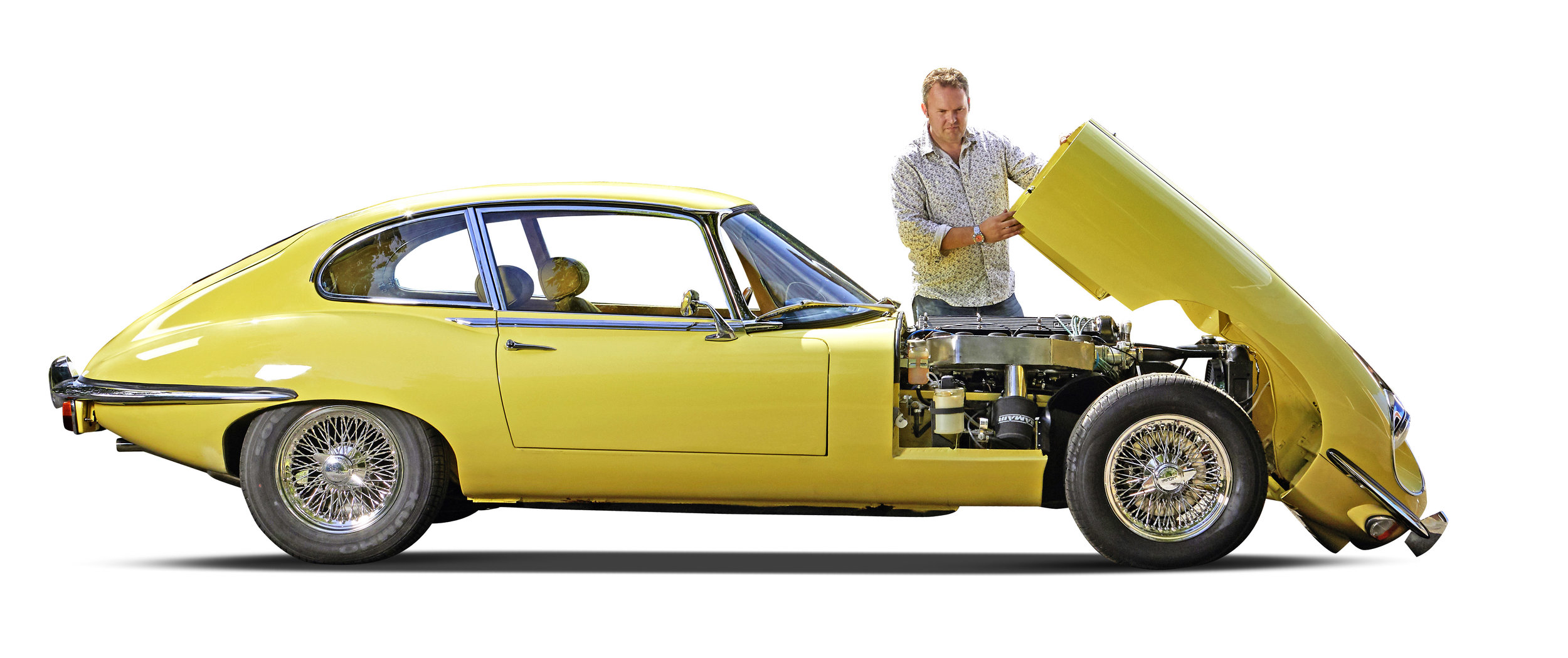 The initial plan was that Scott Hilton would get his E-Type running and undertake a twelve-month rolling restoration. Although the interior was cracked and faded and the paint was damaged and sun-bleached, it didn't look all that bad a starting point. 'Then the project just snowballed,' he recalls. And as always, when he did finally begin, it was never going to be a simple job…