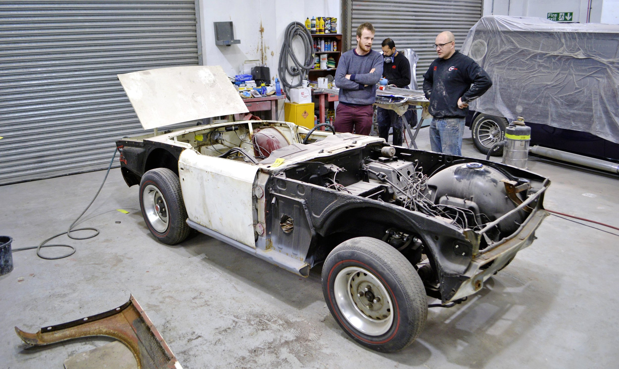 Along with the arrival of the amazing Standard Ten, our Triumph TR6 will be rebuilt live on stage at the Practical Classics Classic Car & Restoration Show with Discovery at the NEC on March 22-24. Read about how the lads are getting on with the preparation work in the April issue of Practical Classics!