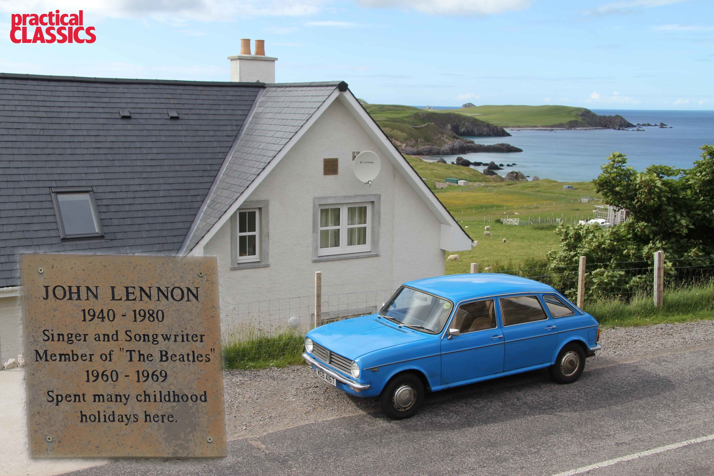 James stops at the home of John Lennon's aunt and scene of many a childhood family holiday.