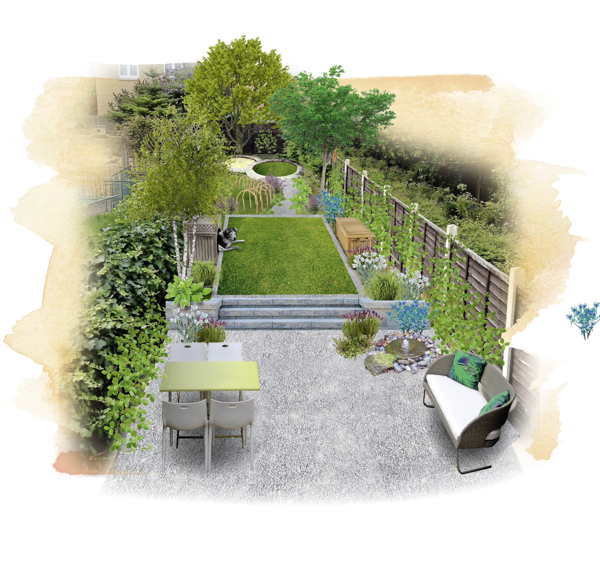 Q. Can you help me create an attractive dog-friendly garden