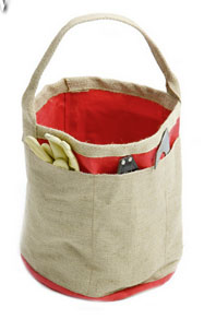 Gardeners Pail in poppy red or sage green £34.95 Sarah Raven 0345 092 0283;  www.sarahraven.com