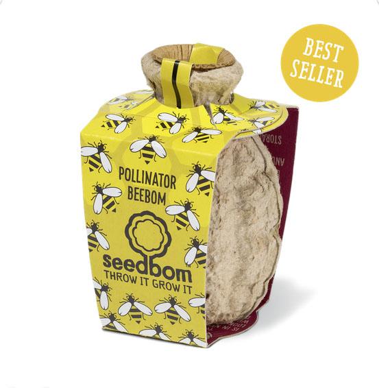 Pollinator Beebom seed bomb 0141 423 6671; www.kabloom.co.uk