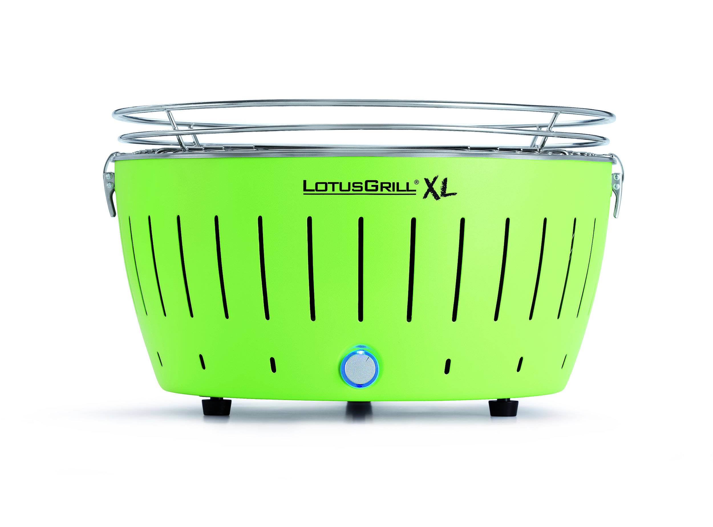 LotusGrill XL Barbecue Lime Green Portable BBQ With Free Lighter Gel & 1KG Charcoal
