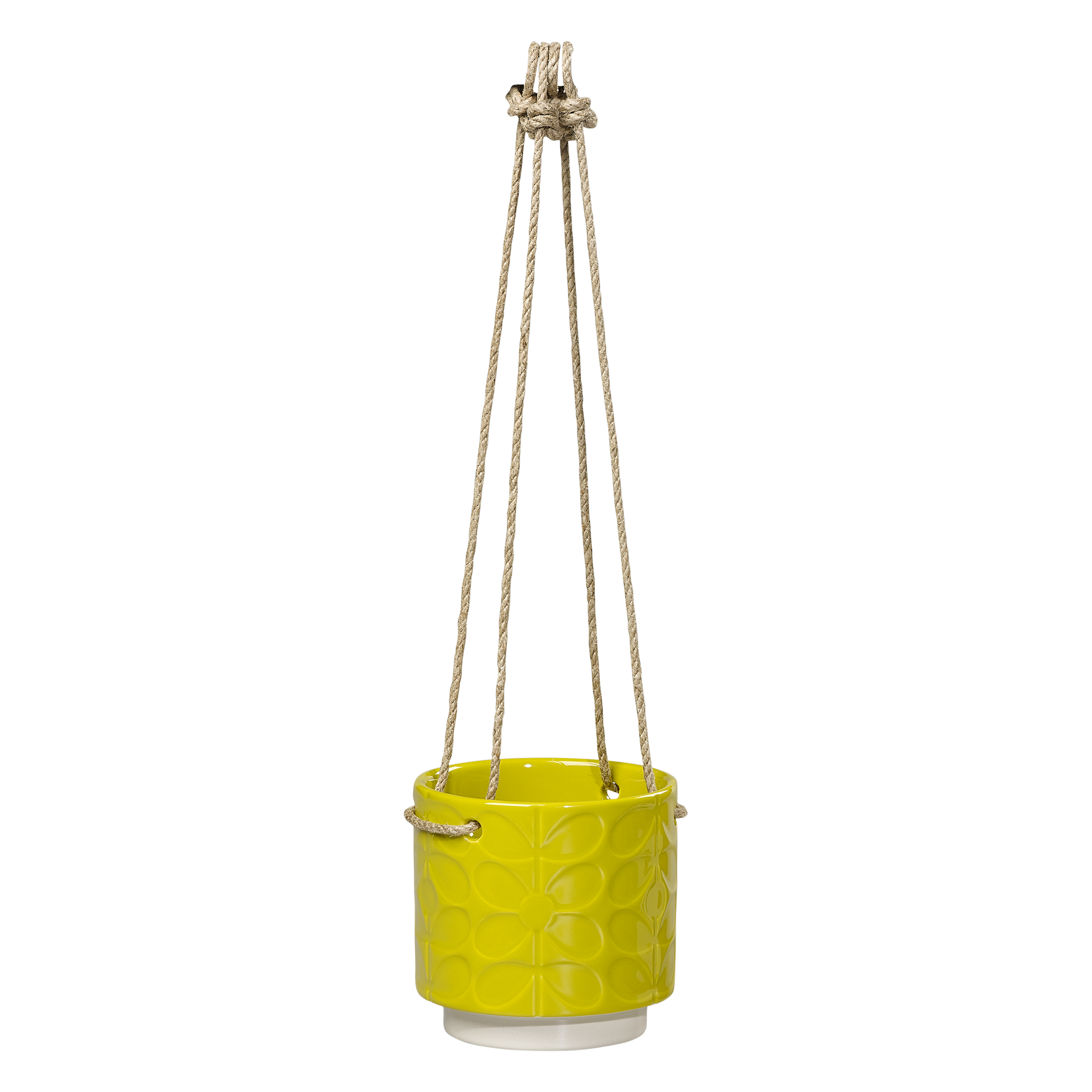 Orla Kiely 60s stem ceramic hanging plant pot