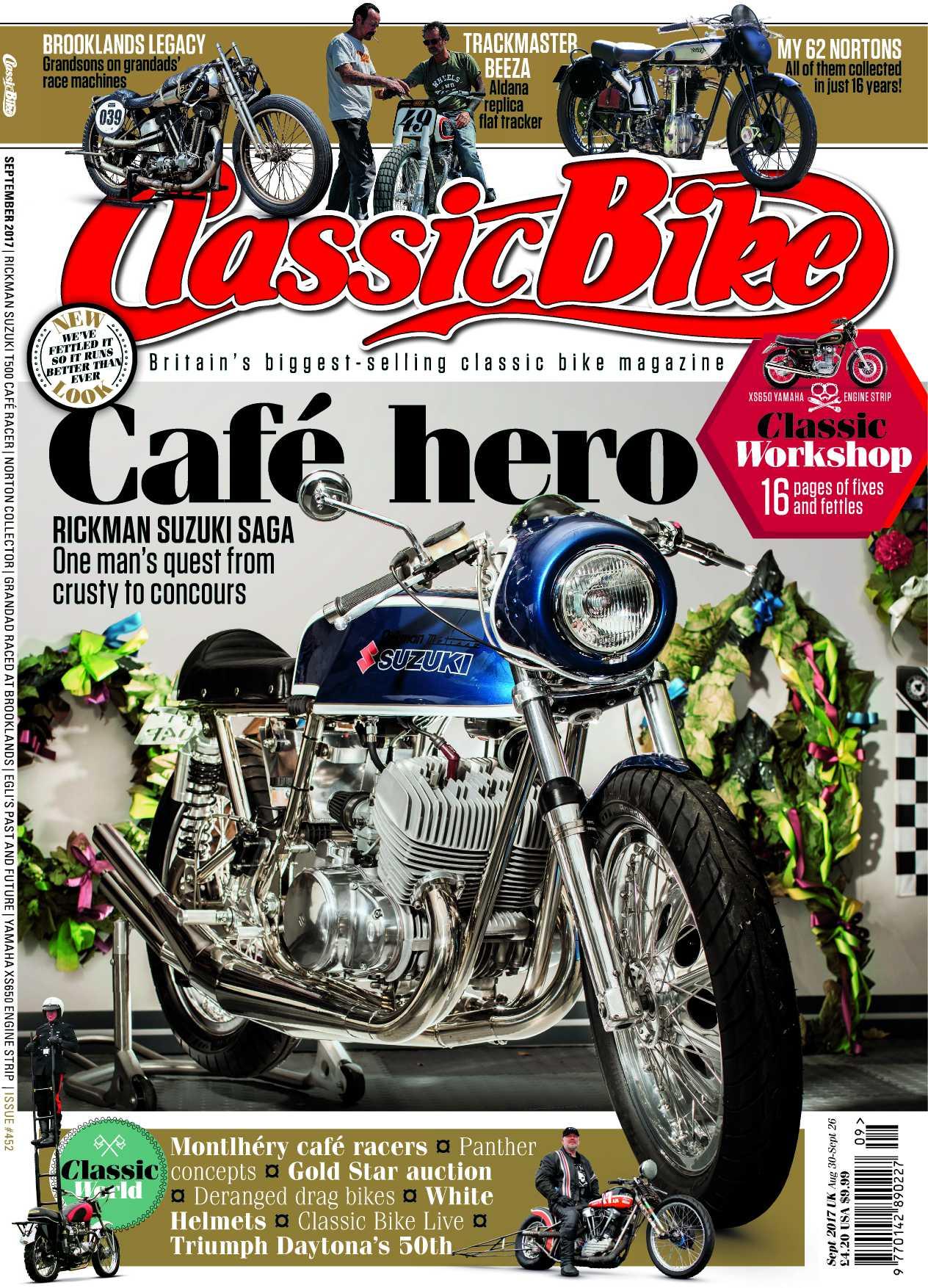 Classic Bike magazine September 2017 issue
