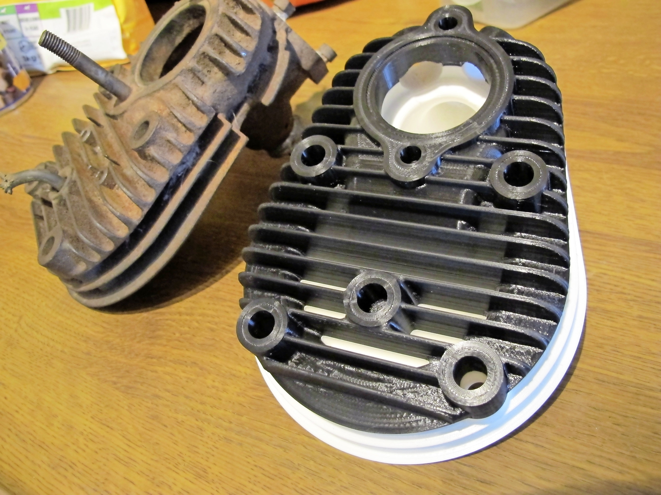 As if by magic... a plastic copy of the Martinsyde cylinder head