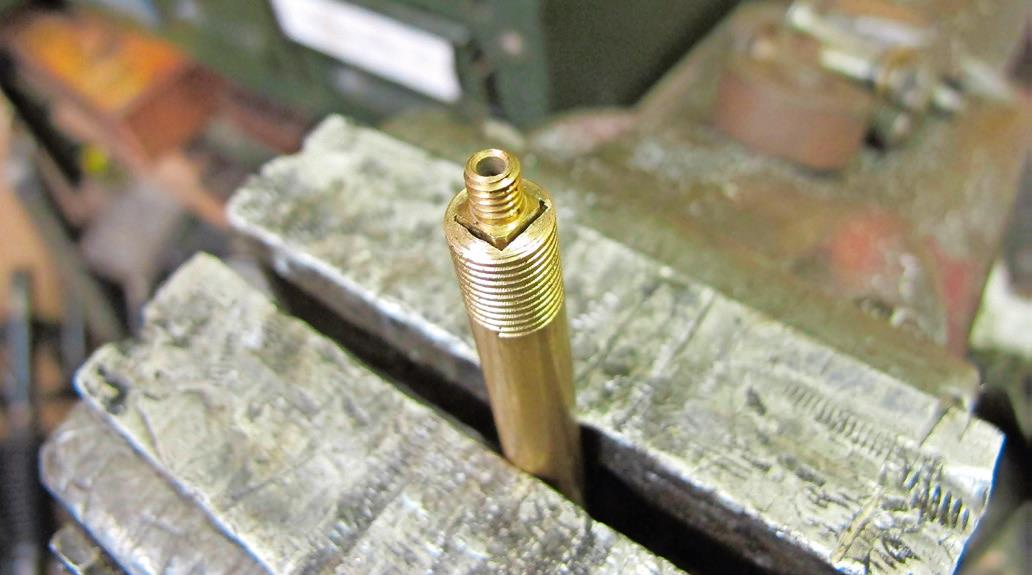 4.  I used brass for this carb jet key but tool steel should cope with mild steel. Wear eye protection in case of shrapnel!