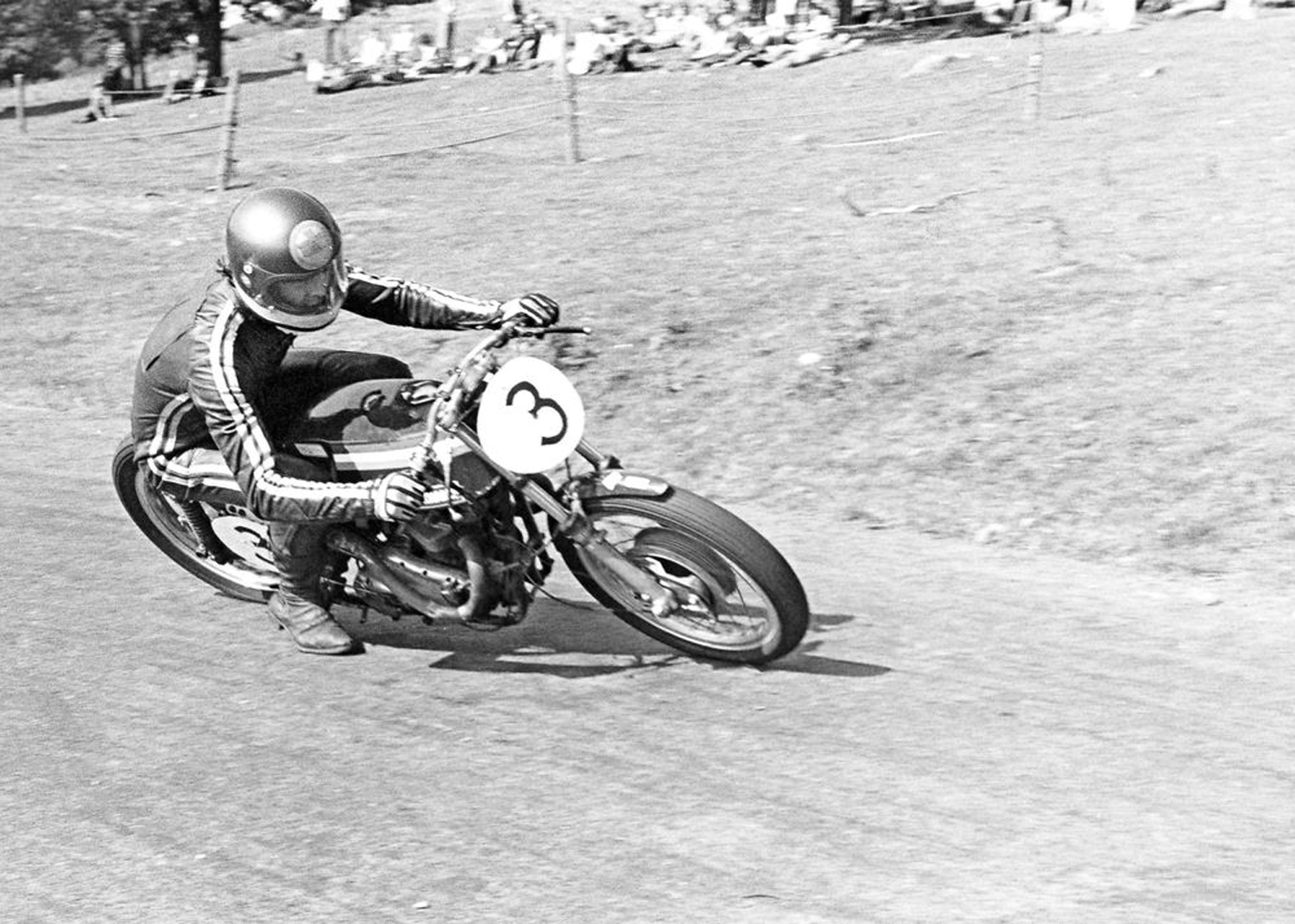 Paul Spargo was one of the wild-riding hillclimb racers Nicksy tried to emulate on his Velocette