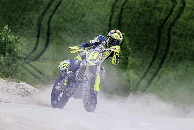 Jezza reckons you couldn't get Rossi off the dirt if you tried...