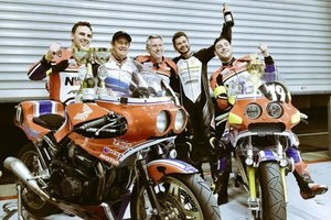 John McGuinness and the Mugen team at Spa
