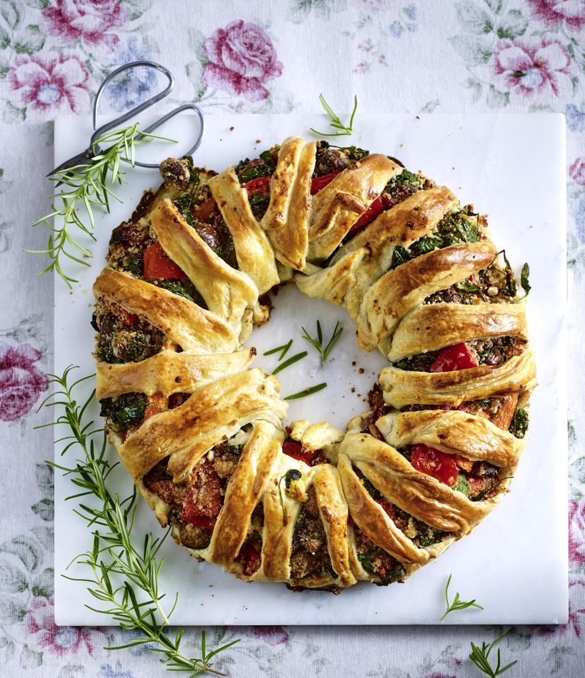 Festive vegetable wreath recipe from LandScape magazine