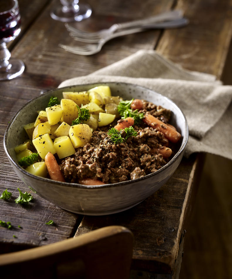 Mince and potatoes recipe LandScape magazine
