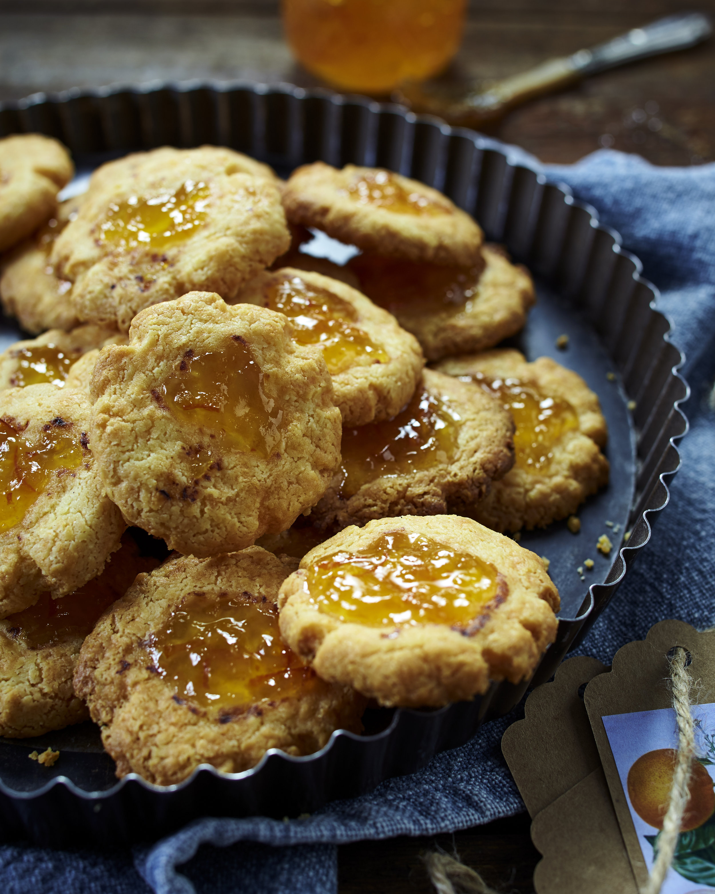 Cheese and marmalade savoury biscuits, recipe from LandScape magazine Jan/Feb 2018 issue.