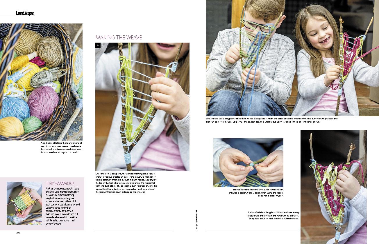 Weaving twig wands 2