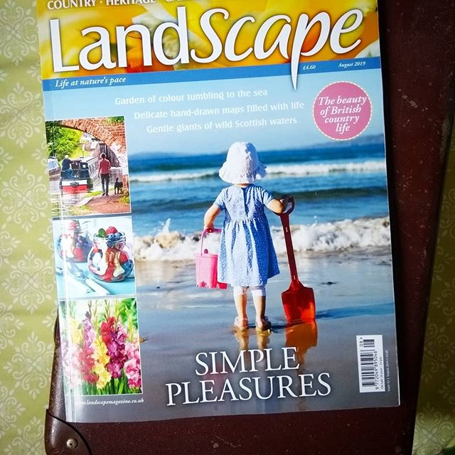 LandScape magazine, the ideal companion for a summer break... In the shops now. #newissue #magazine #landscapemag #landscapemagazine #summer #britishsummertime #sea #besidethesea #simplepleasures #countryside #coast #history #heritage #travel #gardening #craft