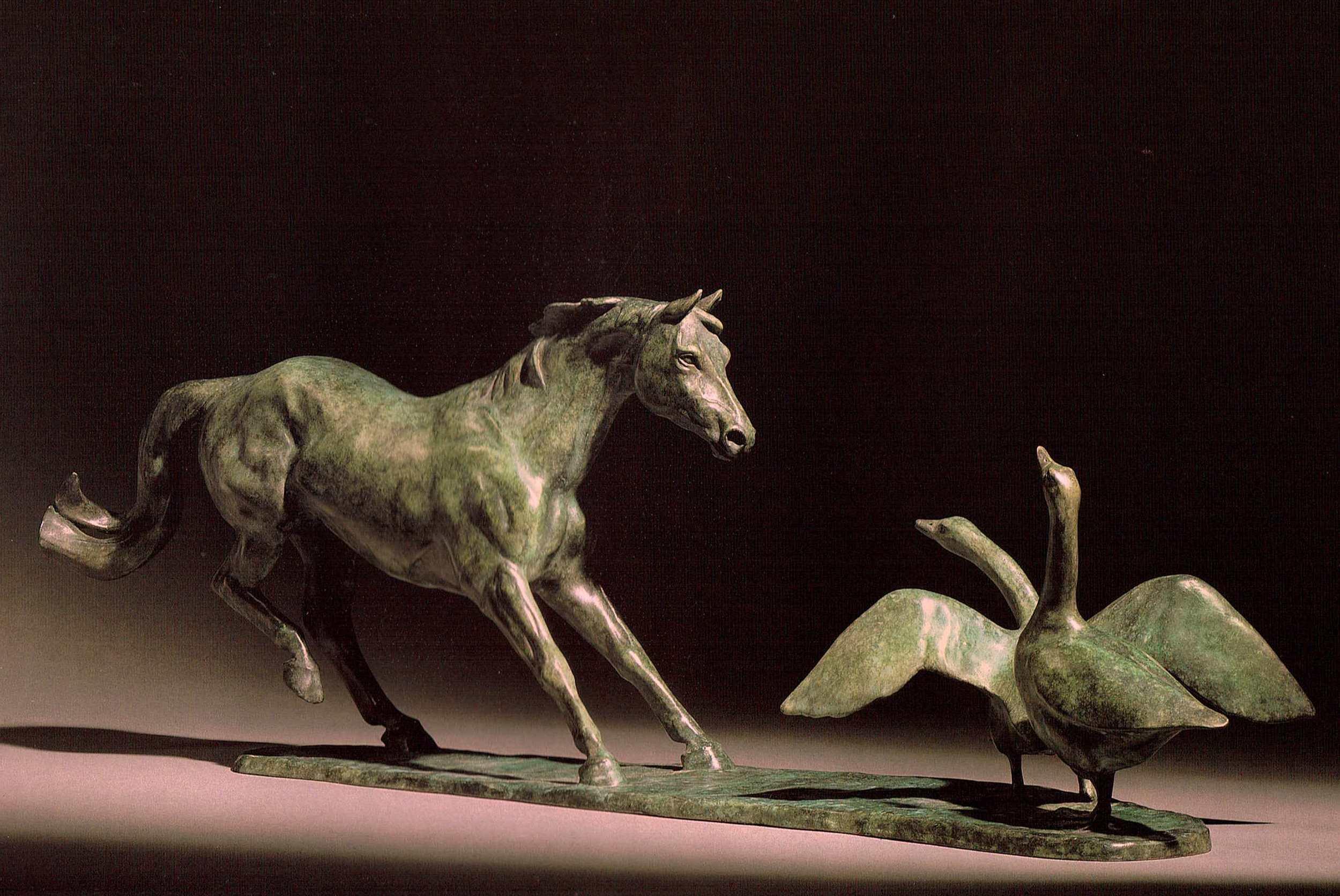 HORSE CHASING GEESE II