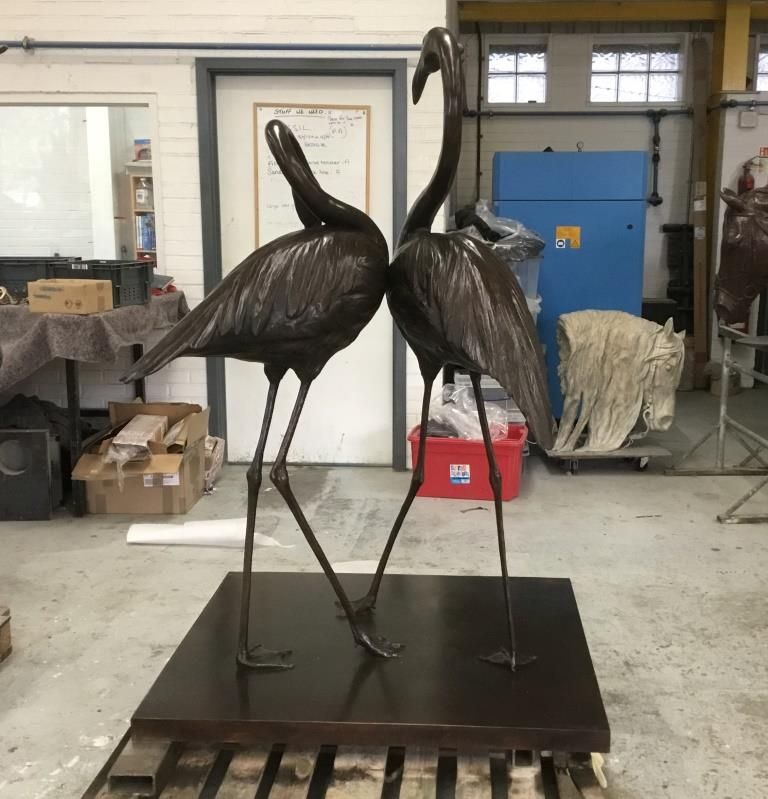 The Flamingos in Bronze