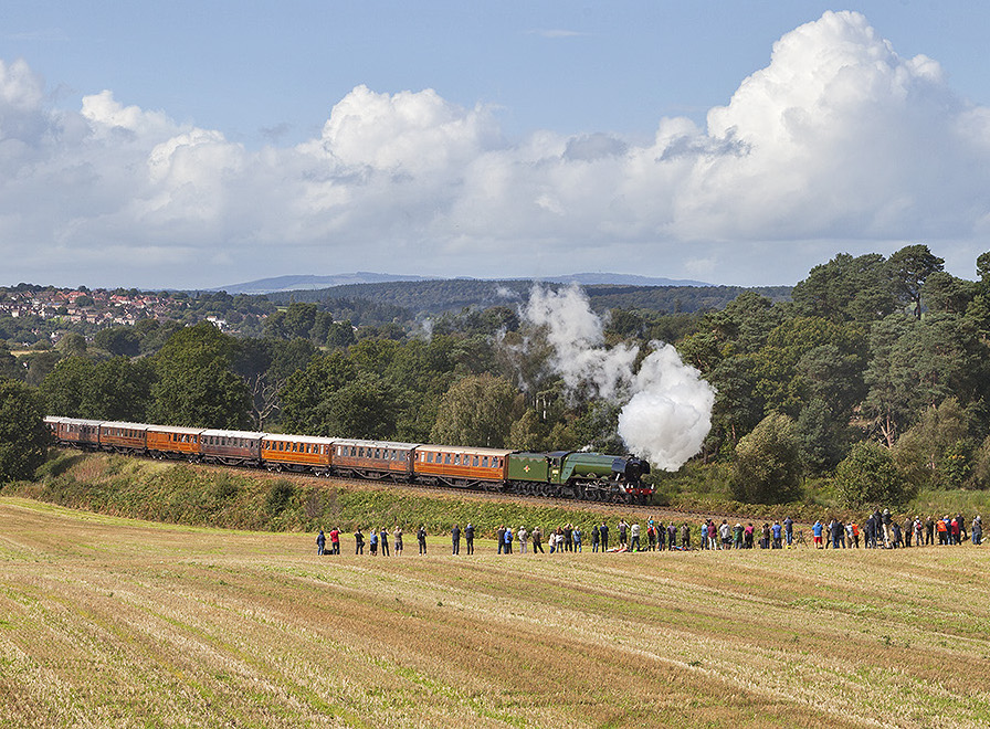 Proof that  Flying Scotsman  draws the crowds wherever it goes. The Severn Valley Railway estimates 45,000 came to witness No. 60103 meet numerically similar No. 60163  Tornado  for the first time in preservation at its Pacific Power event. JOAN GREEN