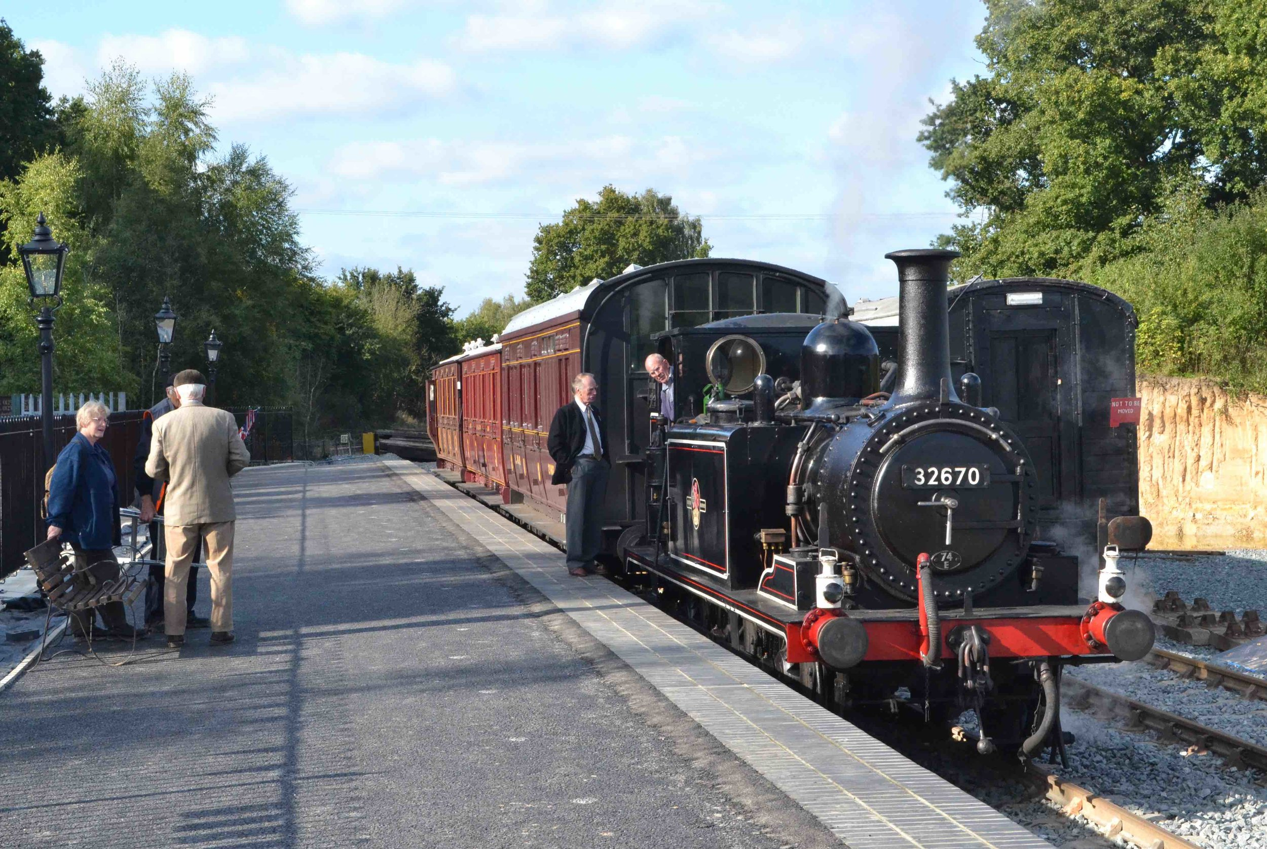 Visiting from the Kent & East Sussex Railway, 'Terrier' 0-6-0T No. 32670 completes the scene at the Rother Valley Railway's new Robertsbridge Junction station on September 20 2013. TOBY JENNINGS