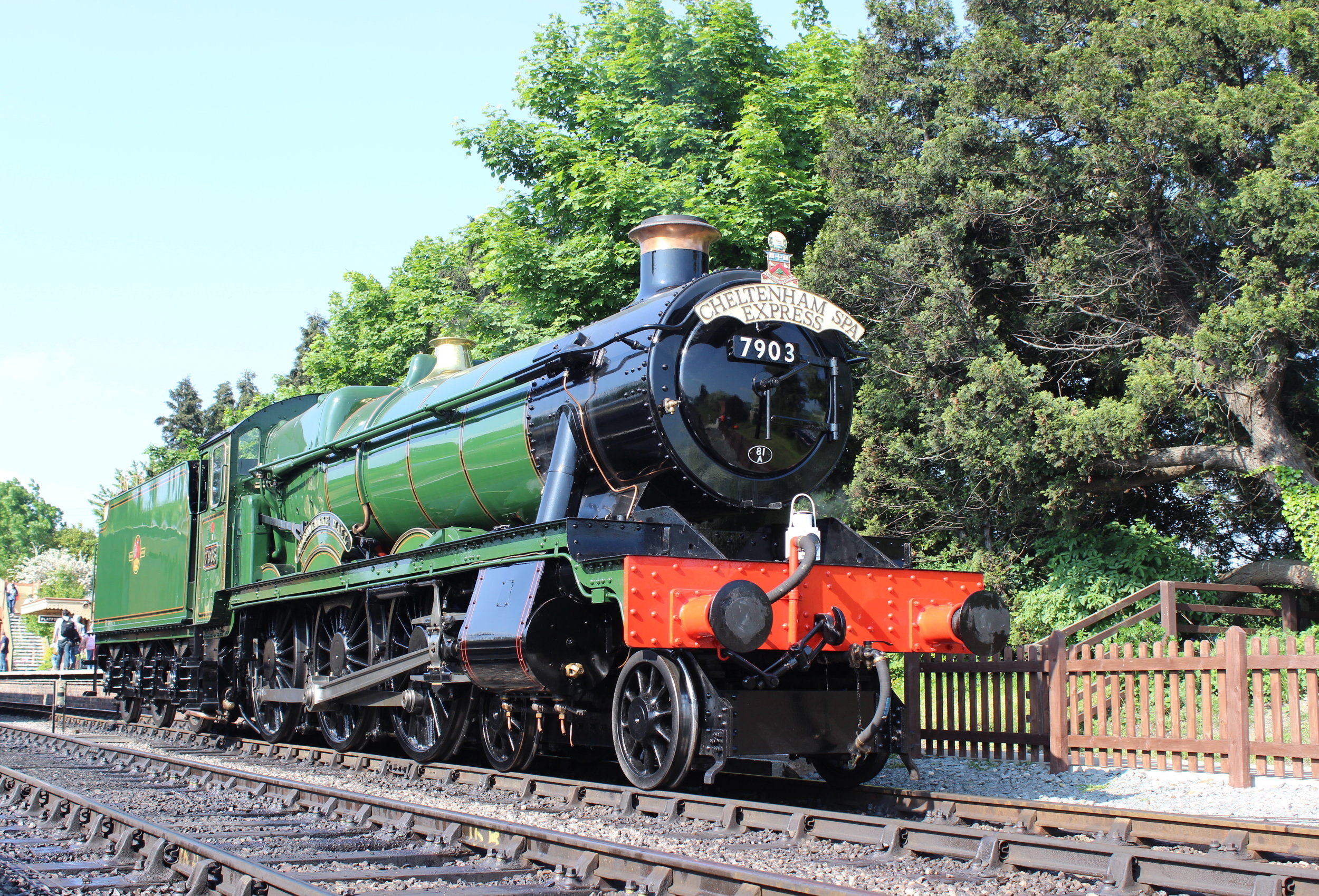 In less than a year's time, 'GlosWarks' resident 'Modified Hall' No. 7903  Foremarke Hall  will be steaming through to Broadway. It is pictured at Toddington at the railway's 'Cotswold Festival of Steam' on May 29 2016.