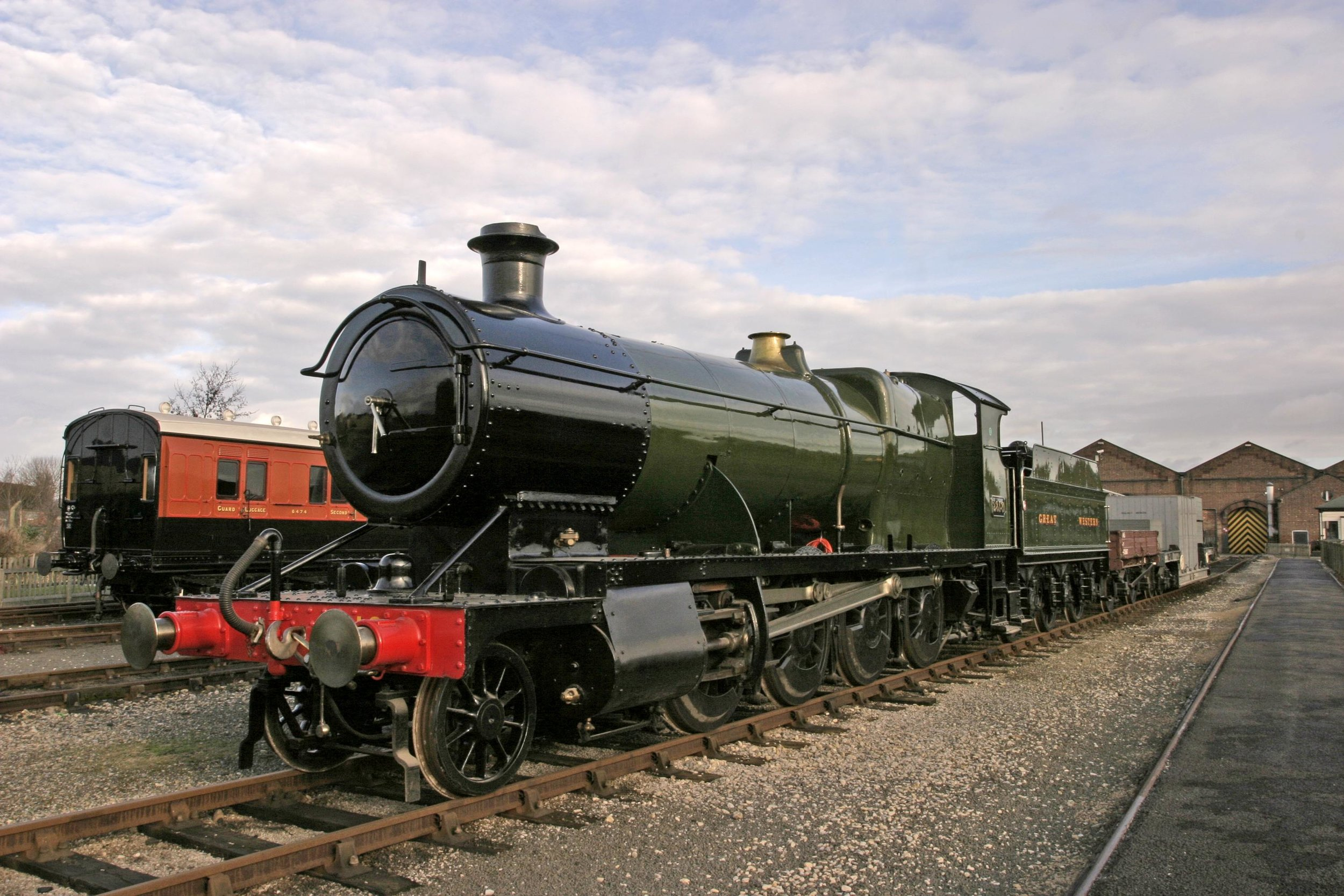 GWR '28XX' No. 2818 is no longer part of the National Collection, as it has been transferred to STEAM - Museum of the Great Western Railway in Swindon. NRM