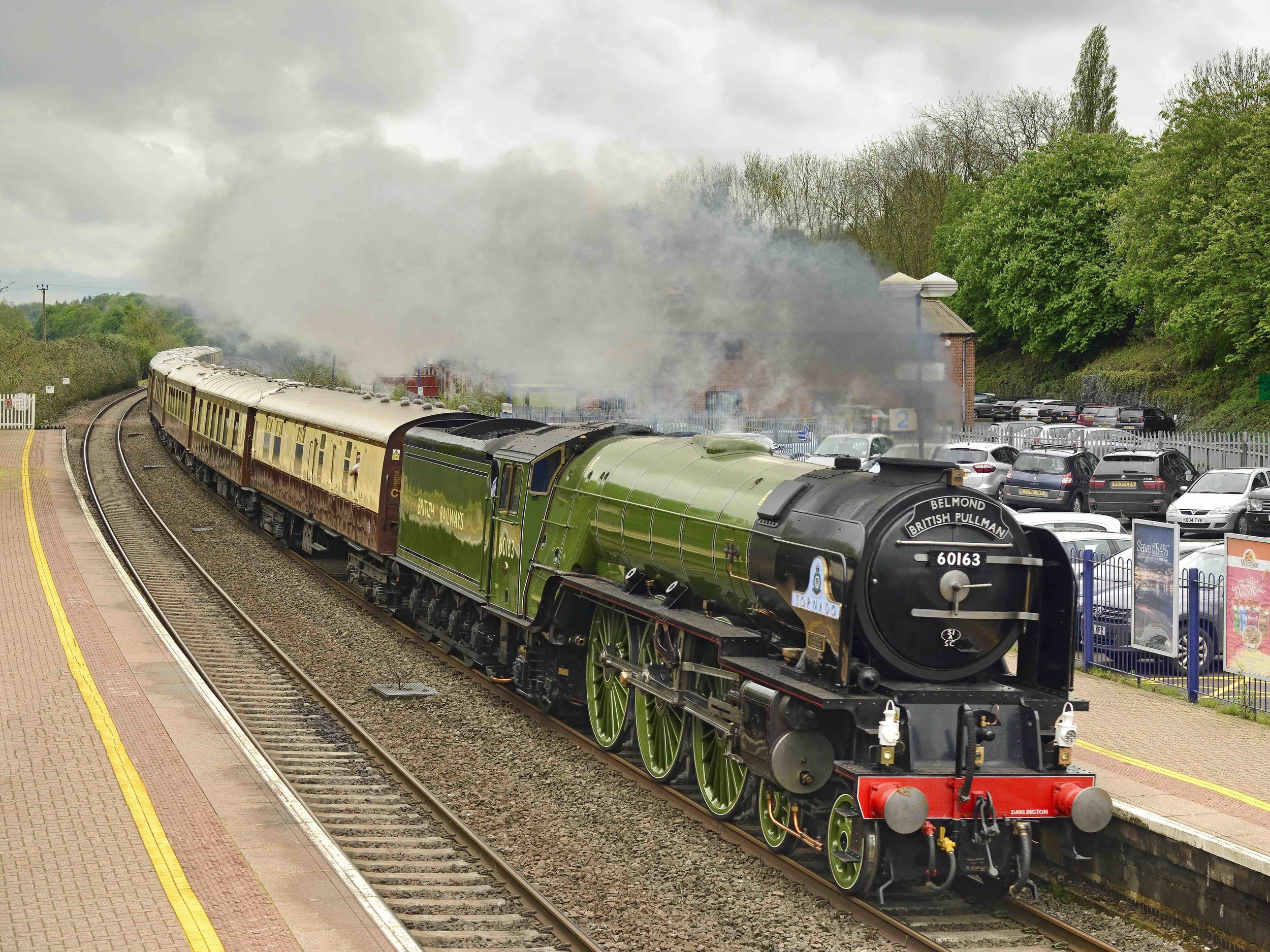 'A1' No. 60163  Tornado , star of the upcoming  Paddington 2 , races through Hungerford with the 'Belmond British Pullman' on May 11. TONY BARTLETT/A1SLT