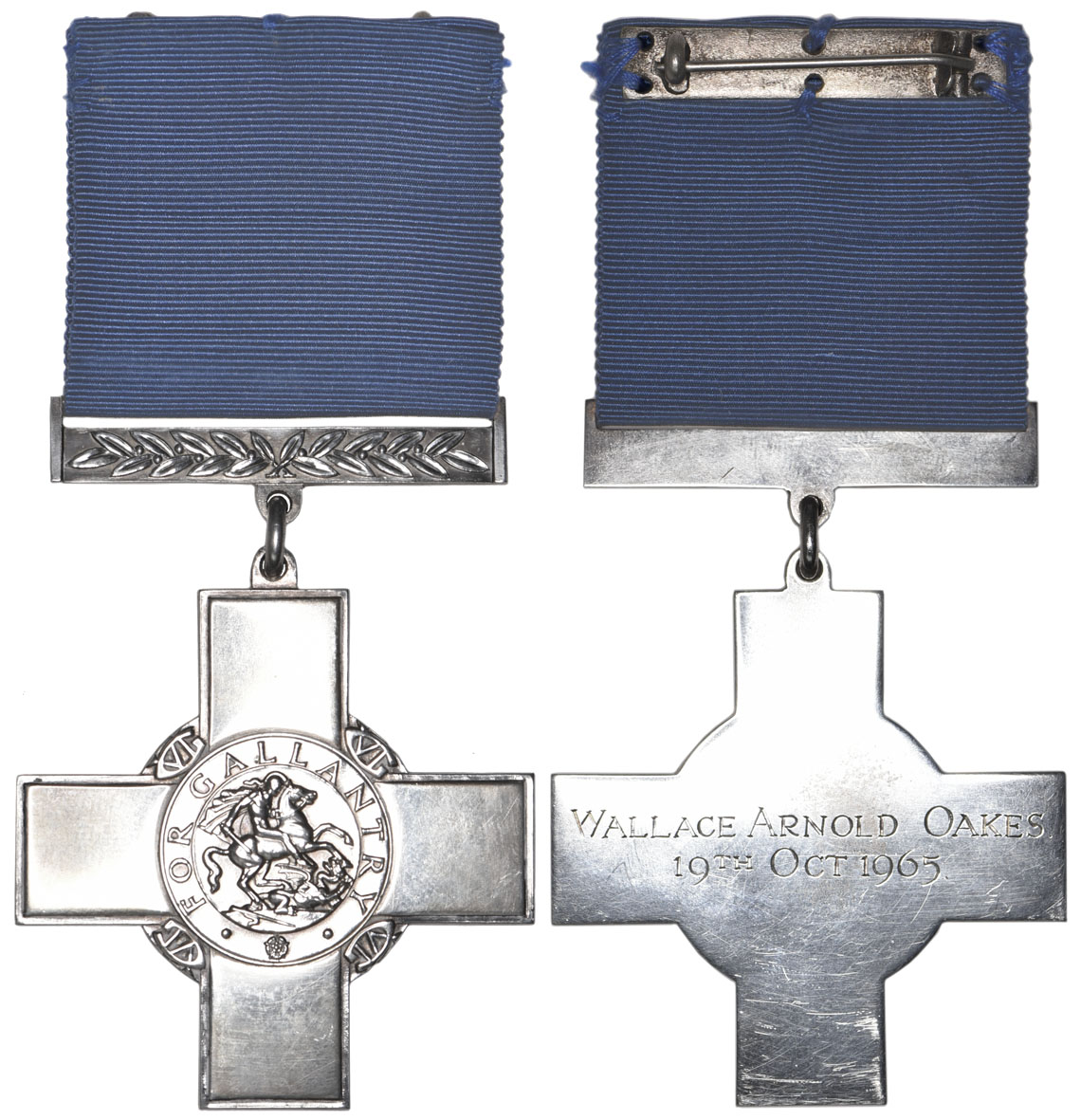 The George Cross medal awarded posthumously to Wallace Arnold Oakes on October 19 1965 for his act of heroism in bringing his train safely to a halt after suffering a severe blowback. It is now owned by the NRM and will go on public display. NRM