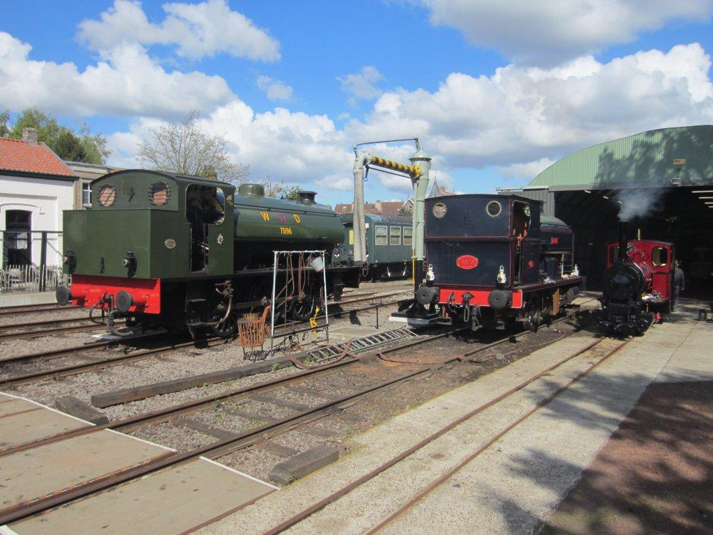Two locomotive starring at the Maldegem 2018 steam festival are 'Austerity' 0-6-0ST No. WD196  Errol Lonsdale  and Avonside 0-4-0ST  Fred . KEVIN HOGGETT