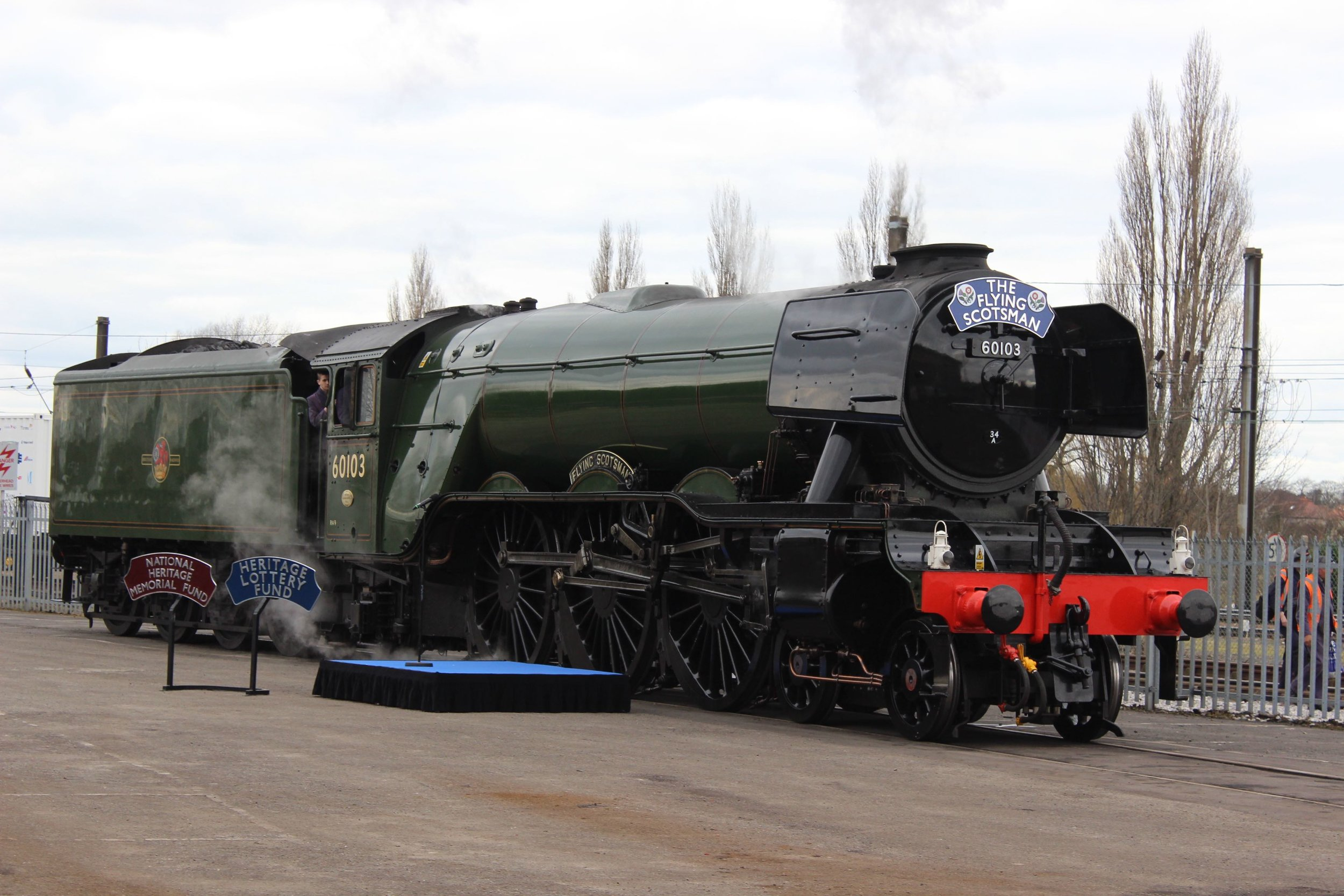 Once again in the care of Riley & Son (E) Ltd, 'A3' No. 60103  Flying Scotsman  rests in the North yard at the National Railway Museum, York, after hauling its inaugural main line railtour on February 25 2016. THOMAS BRIGHT/SR