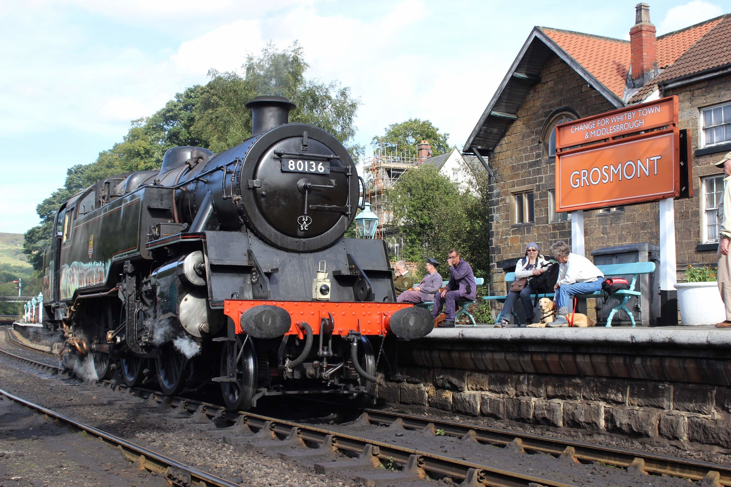 BR Standard '4MT' 2-6-4T No. 80136 rests in the platform at Grosmont, where a new volunteer hostel will be built as part of the NYMR's £9.2million 'Yorkshire's Magnificent Journey' campaign. THOMAS BRIGHT/SR