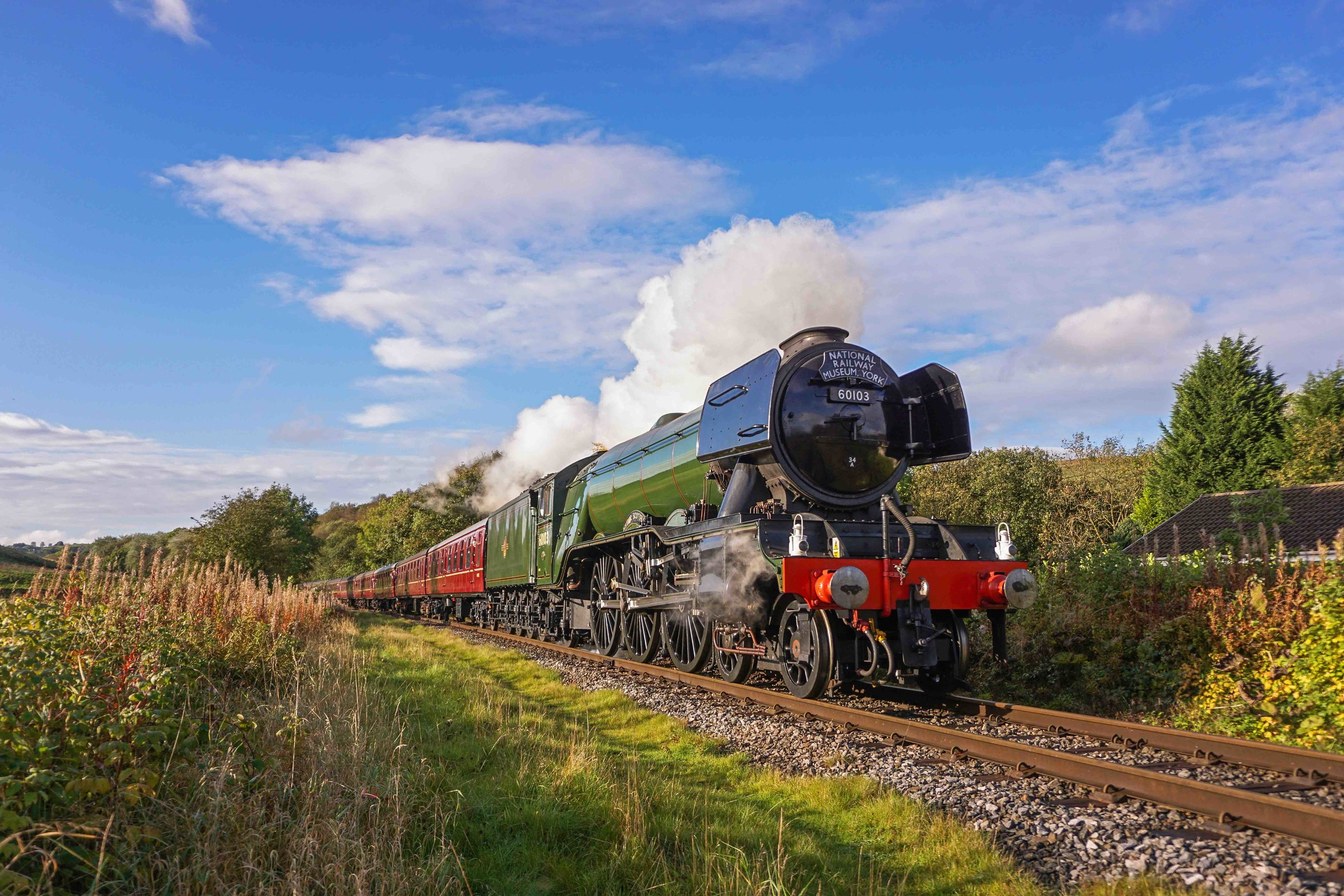 Confirmed to make a return visit to the East Lancashire Railway later this year, 'A3' No. 60103  Flying Scotsman  travels over the ELR on a visit in 2016. LIAM BARNES