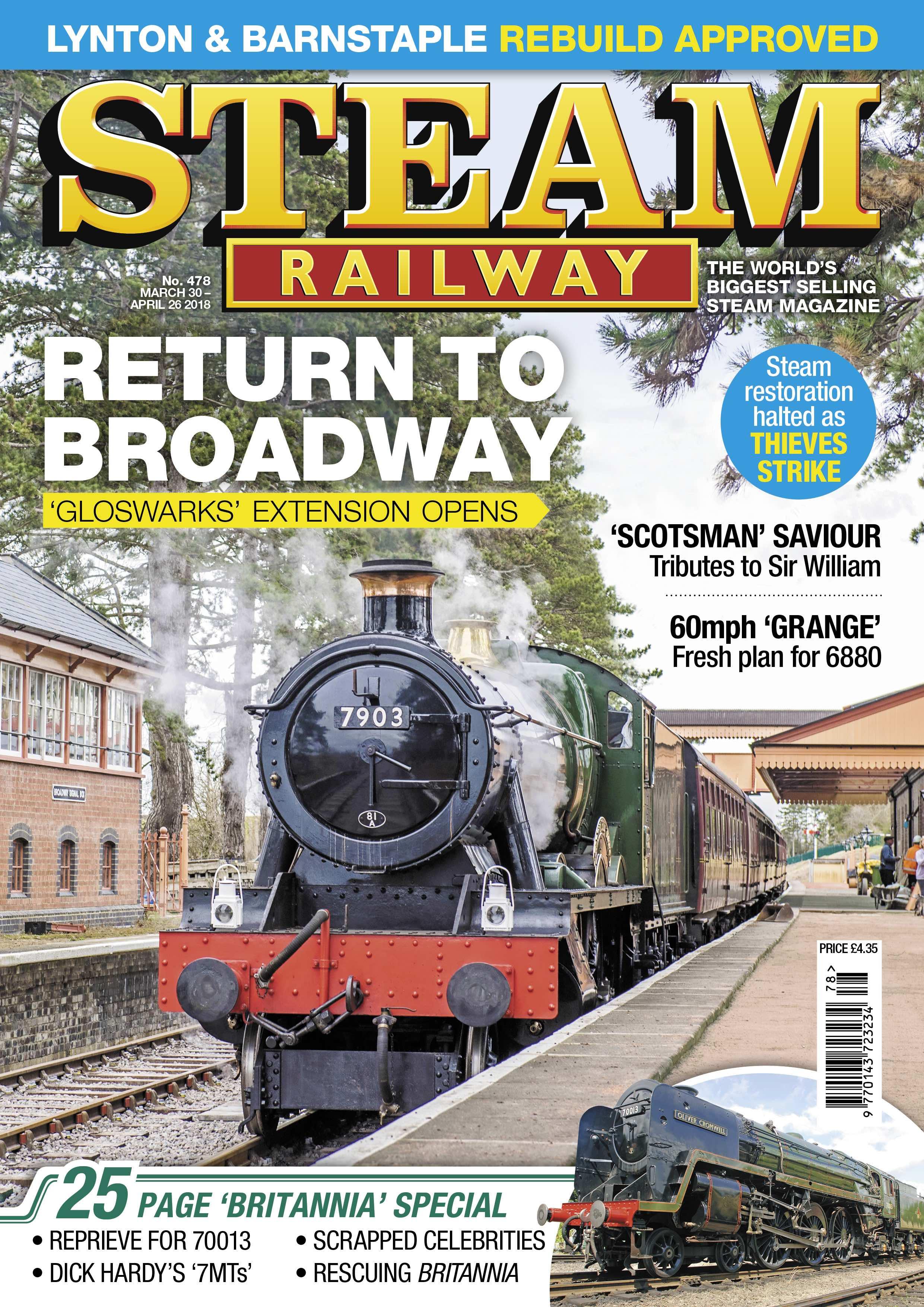 Steam Railway  SR478 - on sale NOW!