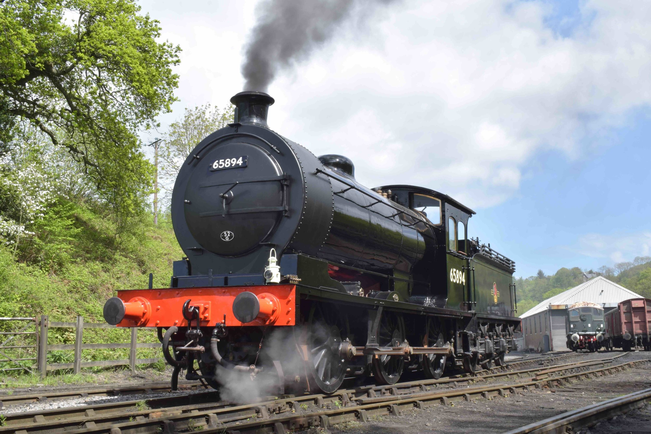 Destined for the Wensleydale Railway this summer, freshly overhauled 'J27' No. 65894 undergoes running-in trials on the North Yorkshire Moors Railway on May 10. THOMAS BRIGHT/SR