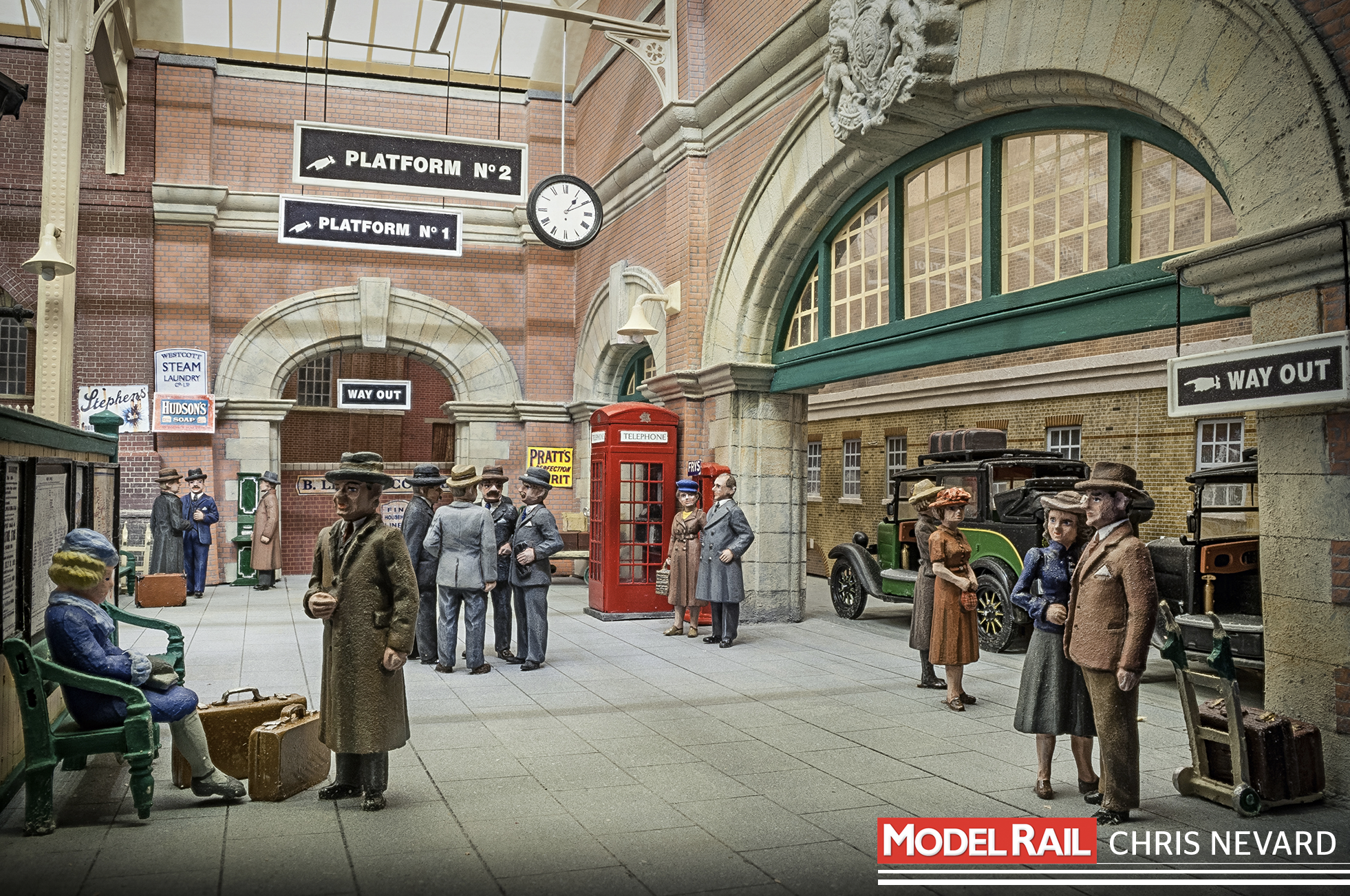 Paul's attention to detail when positioning figures is paramount in conveying a realistic scene. The circle of suited gentlemen is a great observation of human behaviour. CHRIS NEVARD