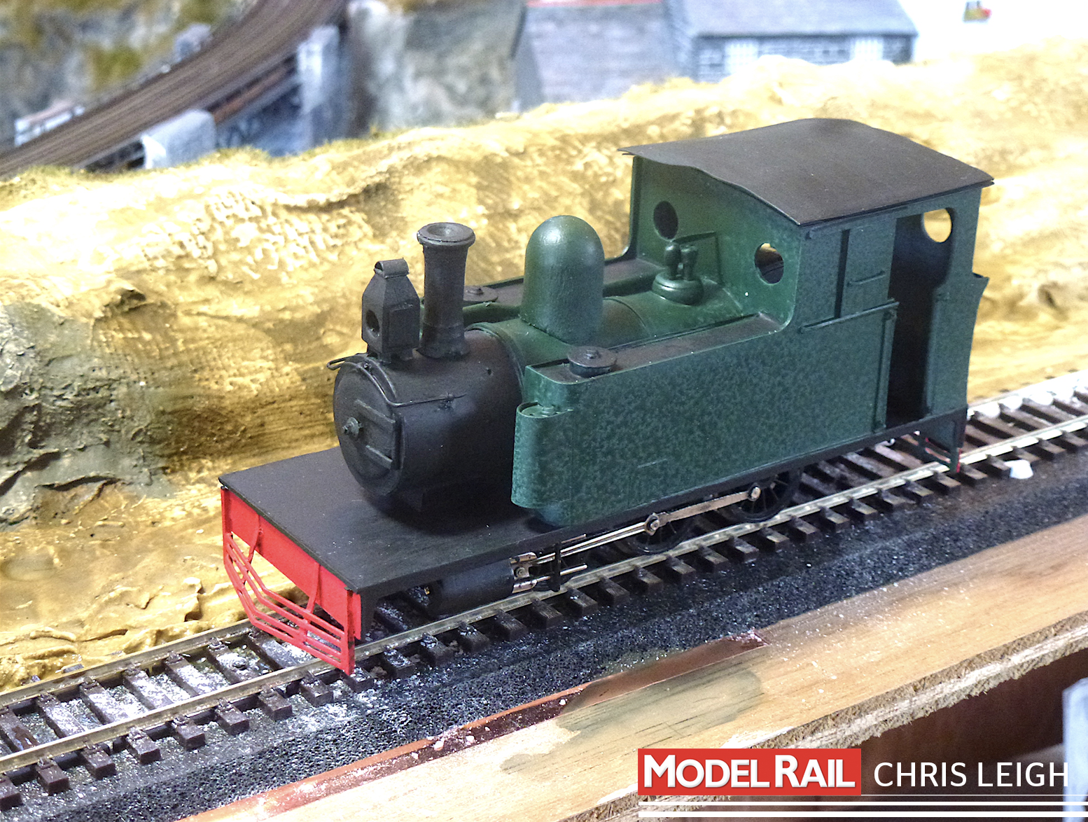 Chris is well on his way to finishing Keith Willows' 2-6-2T. CHRIS LEIGH