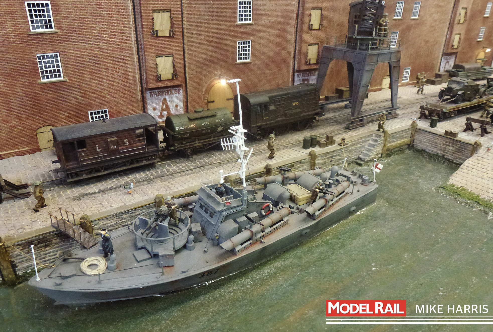 James framed his entire layout around this Airfix Torpedo Boat MIKE HARRIS