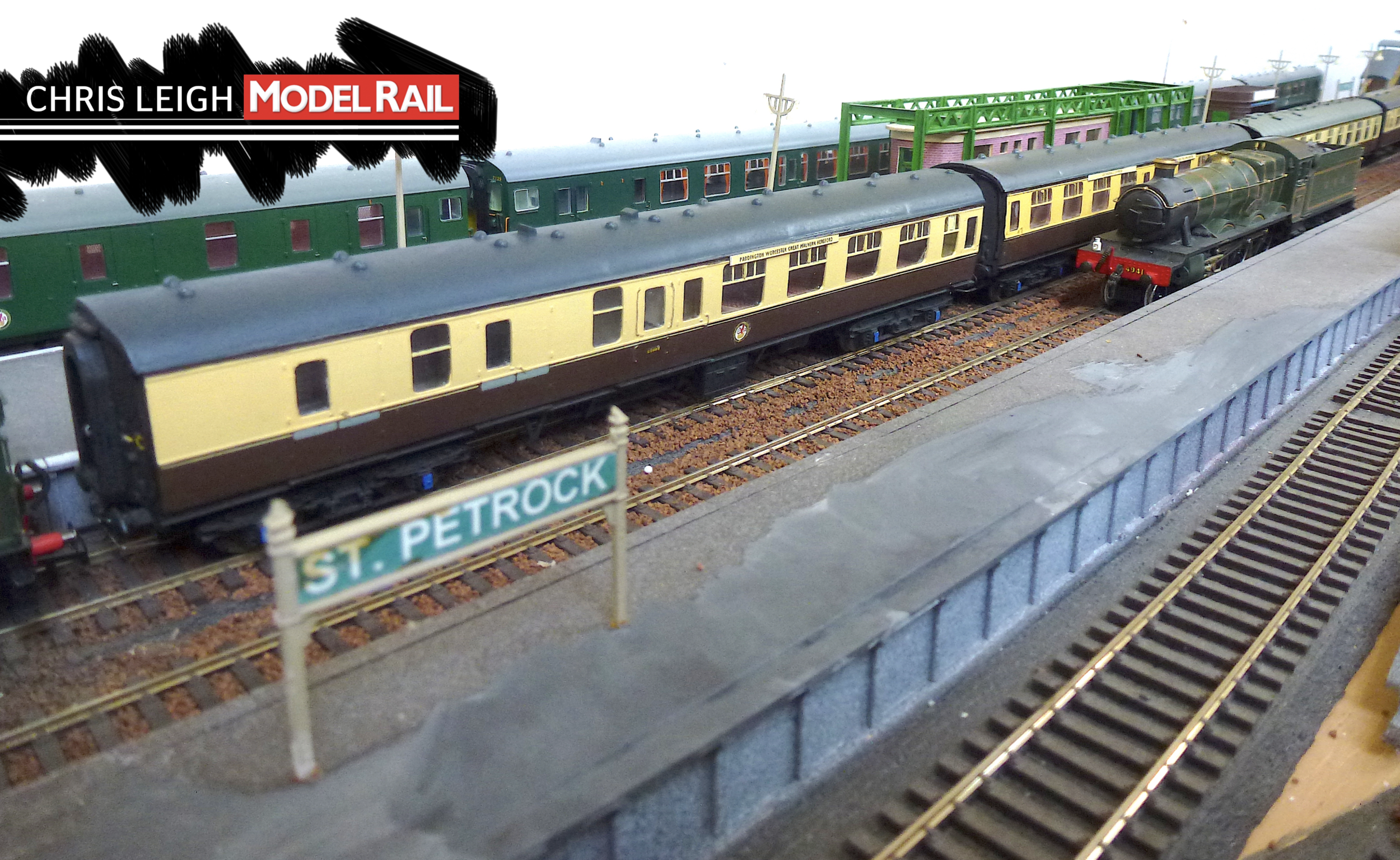 The Kitmaster chocolate and cream set, with a Bachmann restaurant car added. The 'Hall' creeping past, light engine, is also one of Keith's models and will be offered for sale as soon as I can identify its origin. CHRIS LEIGH