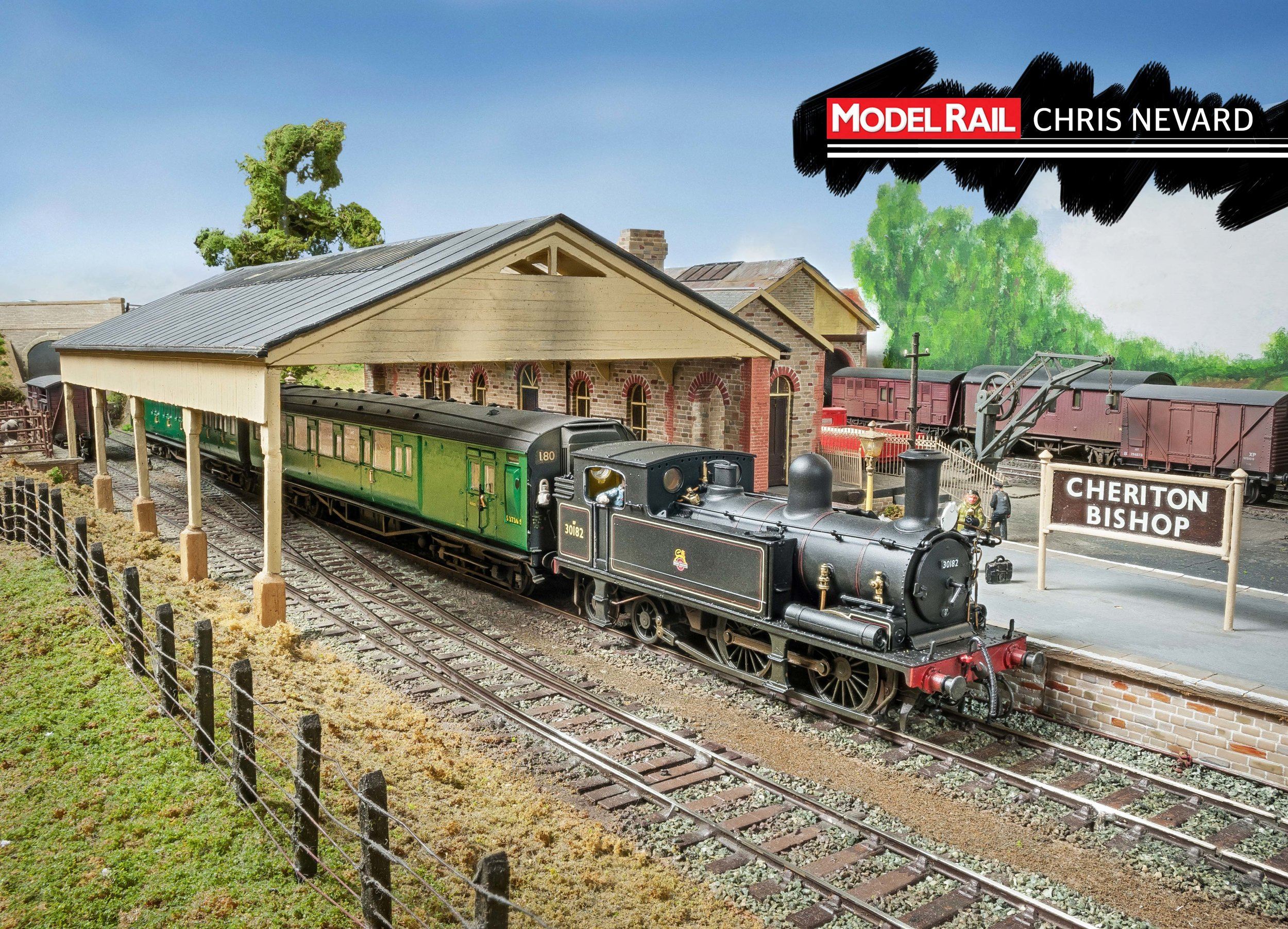 Kernow DJModels Adams 'O2' 0-4-4T No. 30182 hauls a rake of Hornby Maunsell Coaches. CHRIS NEVARD