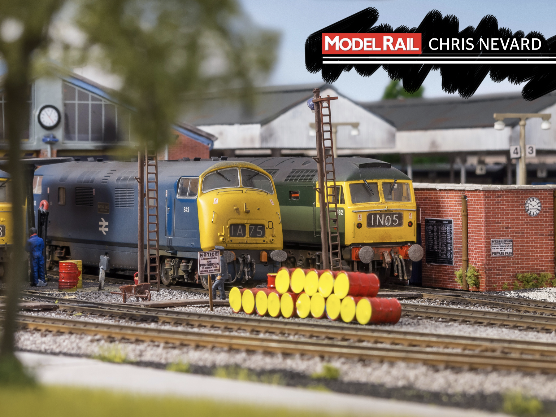 The BR Blue era is an homage to Paul's days train spotting as a child. CHRIS NEVARD