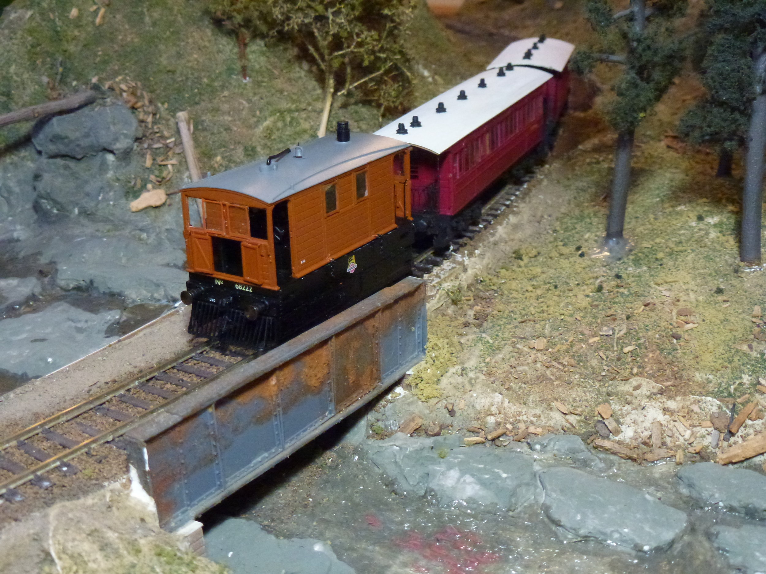 The Model Rail/Rapido Trains J70 with just some of the optional details fitted, posed with a pair of D&S Models coaches (no longer available).