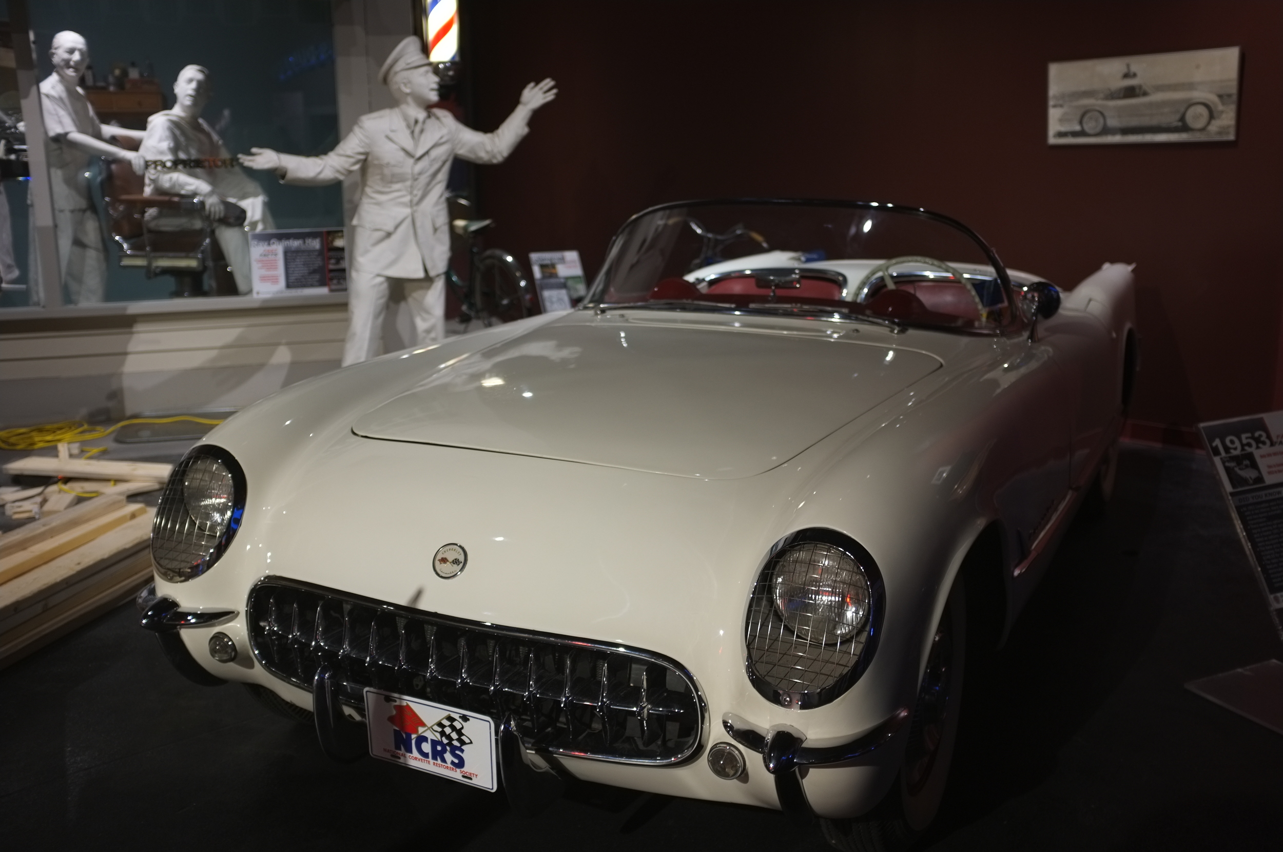 America's first sports car: one of the 300 original handbuilt Corvettes produced in 1953.